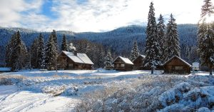 Canim Lake Resort in the heart of winter