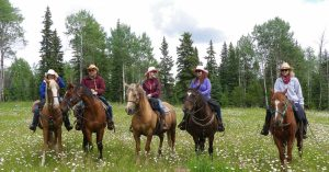 Horseback riding at Flying U Ranch in the Chilcotin