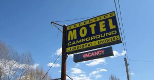 Kreekside Motel Campground sign